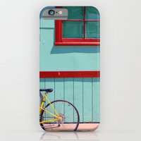 iPhone & iPod Case featuring Yellow Bicycle by Jillian Schipper