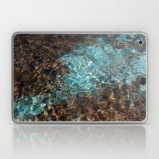 Aqua and Brown Color Photo Laptop & iPad Skin