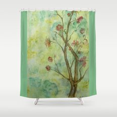 Branch with flowers Shower Curtain