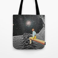 Tote Bag featuring Unknown Pleasures To Inf… by Mariano Peccinetti A…