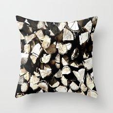 Casual Wood Throw Pillow