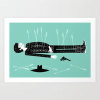 The Lonesome Tale Of Cow… Art Print