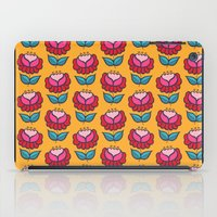 Floral mix yellow background iPad Case