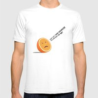 Orange Juice Mens Fitted Tee White SMALL
