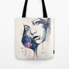 Window, watercolor & ink painting Tote Bag