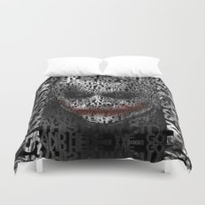 Halloween Psycopath Clown Typograph apple iPhone 4 4s 5 5s 5c, ipod, ipad, pillow case and tshirt Duvet Cover