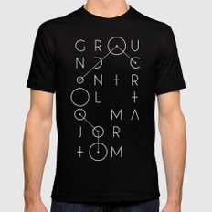 Ground Control Mens Fitted Tee SMALL Black