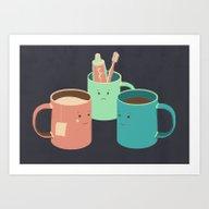Art Print featuring Mugs by Teo Zirinis