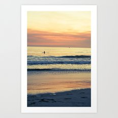 Orange Skies Art Print