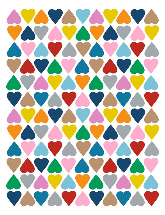 Diamond Hearts Repeat Canvas Print