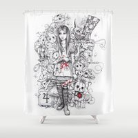 Wonderland Shattered Shower Curtain
