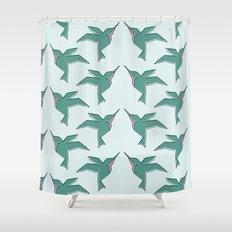Origami Hummingbirds Shower Curtain