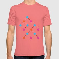 Binary Search Tree   Comp Sci Series Mens Fitted Tee Pomegranate SMALL