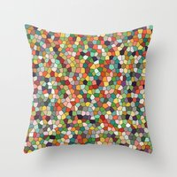 Patchwork Of Colors Throw Pillow