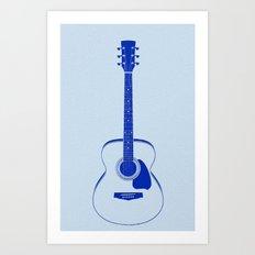 Minimalistic Guitar Art Print