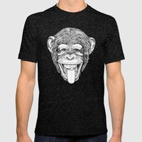 the Monkey Mens Fitted Tee Tri-Black SMALL