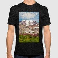 Mount Rainier Hike Mens Fitted Tee Tri-Black SMALL