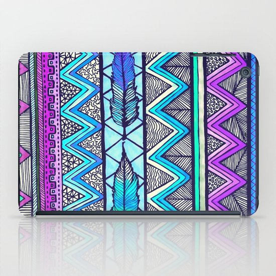 Two Feathers (color version 3) iPad Case