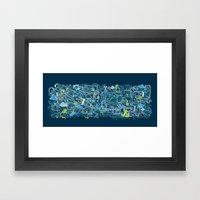 Polucion - I Live Framed Art Print