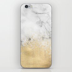 Gold Dust on Marble iPhone & iPod Skin