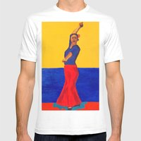 The Flamenco Dancer - AN… Mens Fitted Tee White SMALL
