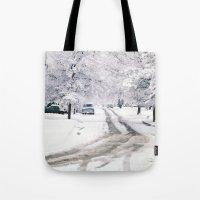 Winter on Beechwood Lane Tote Bag