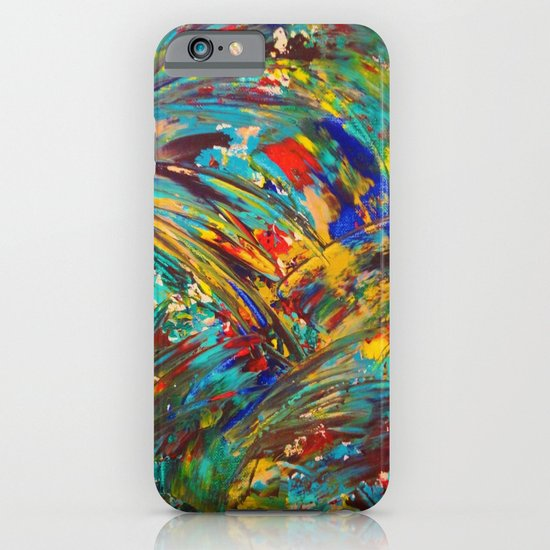 FIREWORKS IN COLOR - Bold Abstract Acrylic Painting Lovely Masculine Colorful Splash Pattern Gift iPhone & iPod Case