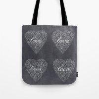 Love Heart Design {Black… Tote Bag