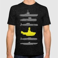 Know Your Submarines V2 Mens Fitted Tee Tri-Black SMALL