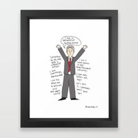 I Love Jon Stewart Framed Art Print