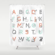 Animal Alphabet Shower Curtain