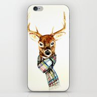 Deer Buck With Winter Sc… iPhone & iPod Skin
