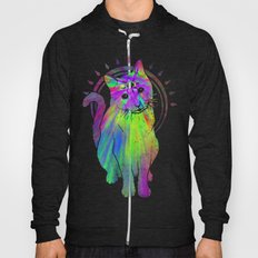 Psychedelic Psychic Cat Hoody