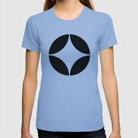 Geometric pattern (circles) Womens Fitted Tee Athletic Blue SMALL