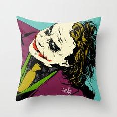 Joker So Serious Throw Pillow