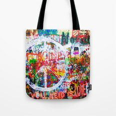 Lennon Wall - All You Need Is Love - Peace Tote Bag