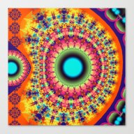 Colourful Fantasy Patter… Canvas Print