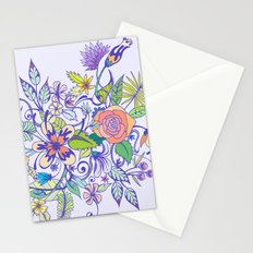 Floral Blue Stationery Cards