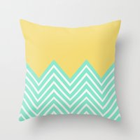 Bright Chevron Throw Pillow