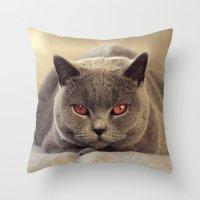 Superstar Diesel the Cat ! Throw Pillow