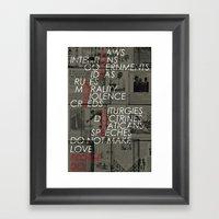 make love Framed Art Print