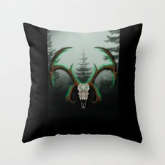 C-1 Horns Throw Pillow