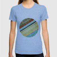 Textile - Green Womens Fitted Tee Athletic Blue SMALL