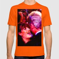 Big Willy Style Mens Fitted Tee Orange SMALL