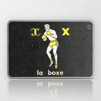 Black Yellow Vintage Boxing French Illustration Laptop & iPad Skin