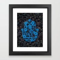 Paper Cut -Peace In 3 La… Framed Art Print