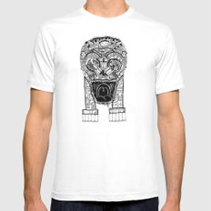 Jaw Lock SMALL White Mens Fitted Tee