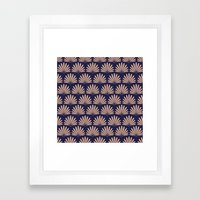 Blue & Peach Daisies Framed Art Print