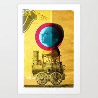 A Childhood Journey Betw… Art Print