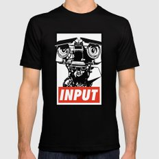 Obey Johnny 5 SMALL Black Mens Fitted Tee